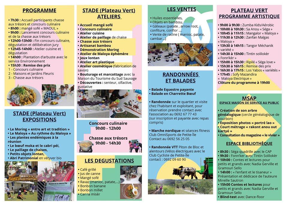 Programme JEP 2019