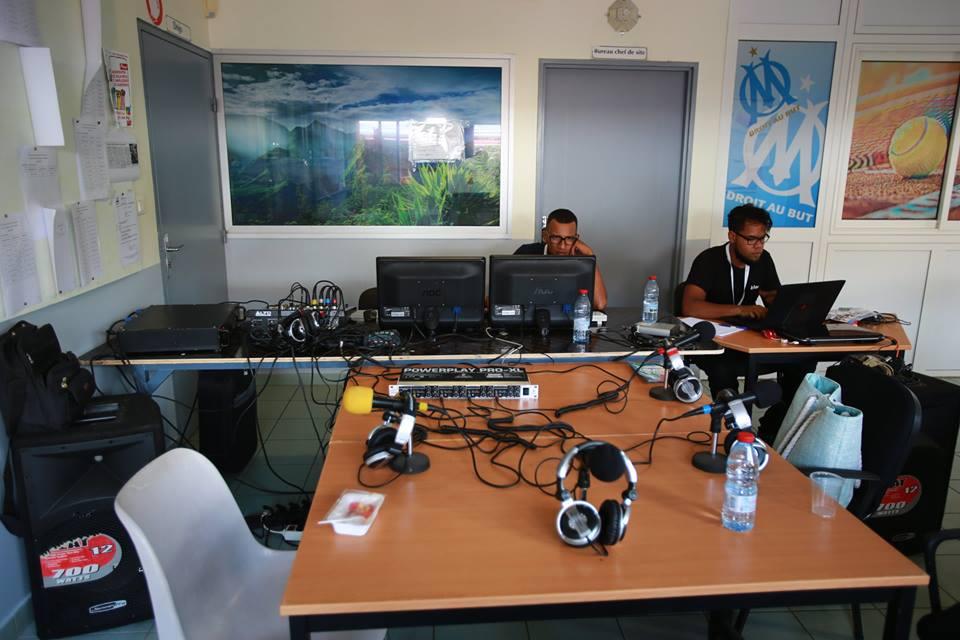 Stand de la Fédération des radios associatives de la Réunion