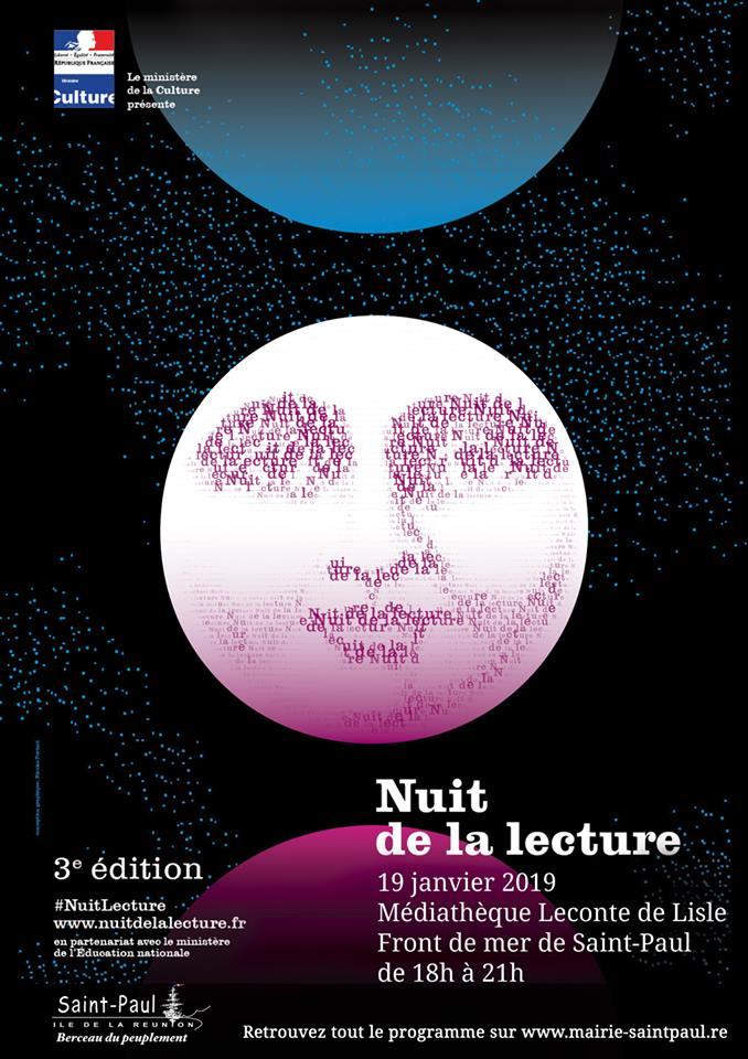 Nuit de la lecture à la Médiathèque Leconte de Lisle