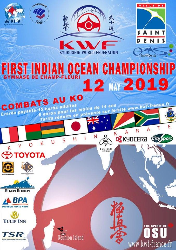Le visuel 2019 du championnat de la Fédération Internationale de Kyokushin